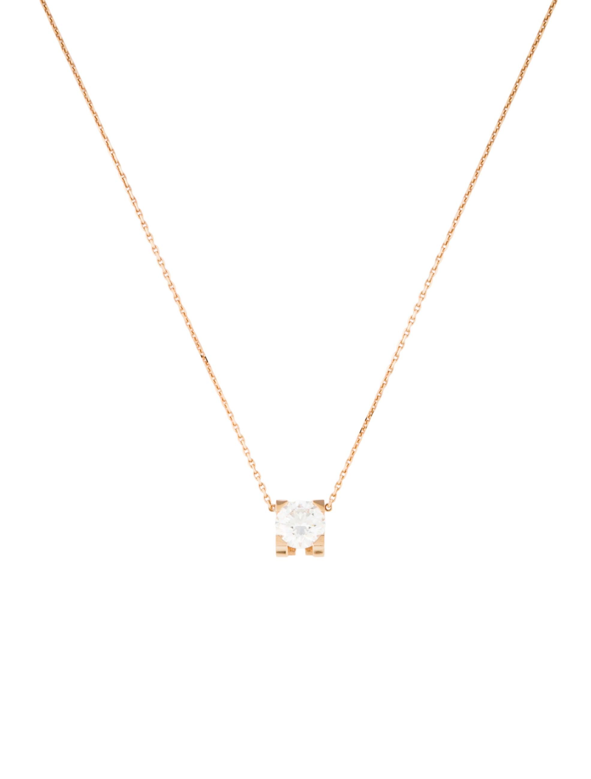 815ff3f2080079 Cartier C de Cartier Diamond Necklace - Necklaces - CRT29311 | The ...