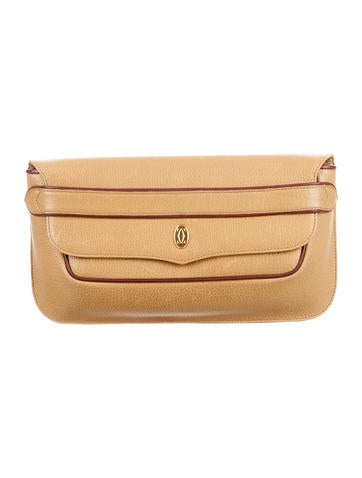 Cartier Leather Envelope Clutch