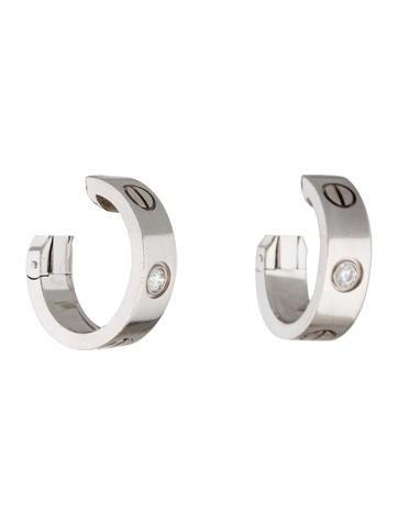 Cartier 18K Diamond LOVE Earrings w/ Tags