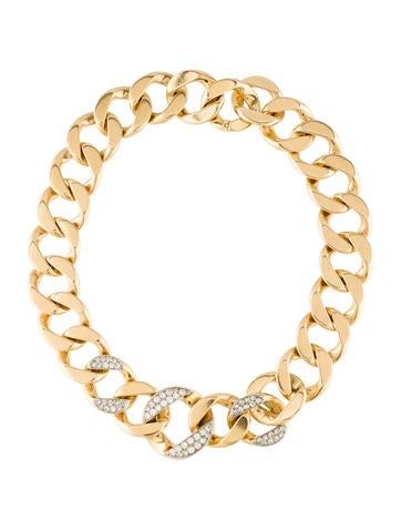 Cartier Diamond Curb Chain Necklace