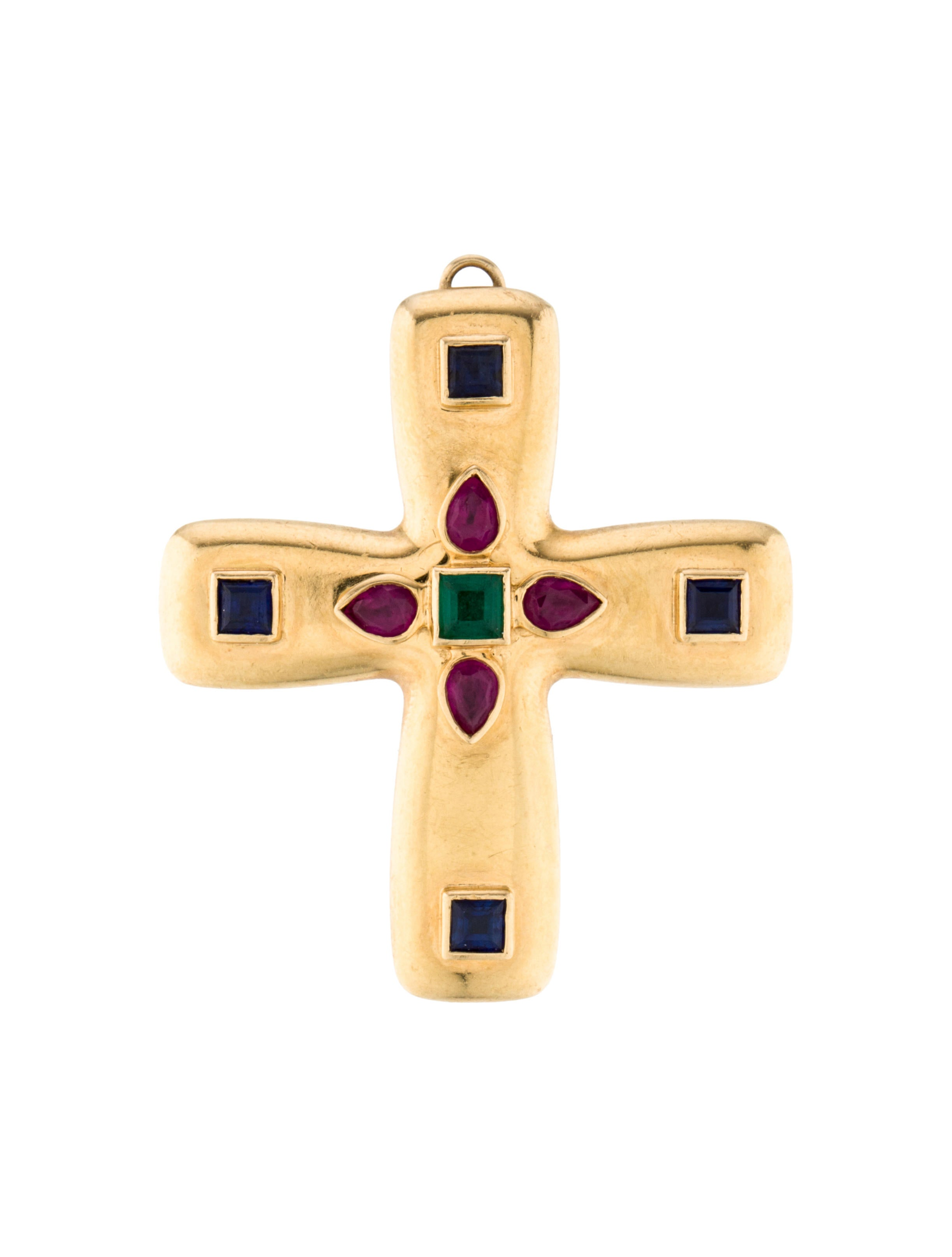 Cartier byzantine cross pendant necklaces crt29856 the realreal byzantine cross pendant mozeypictures Image collections