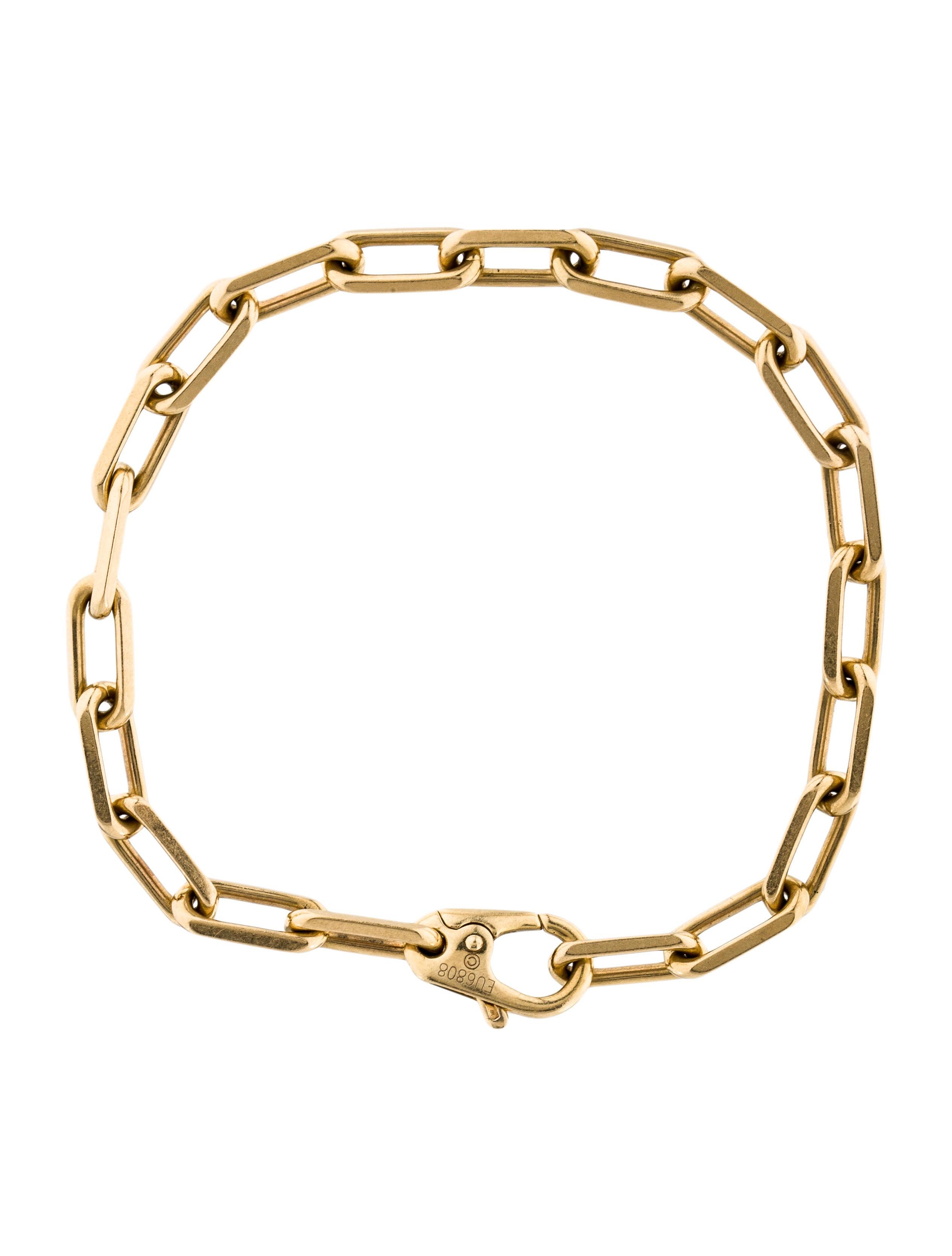 cartier 18k santos de cartier link bracelet bracelets