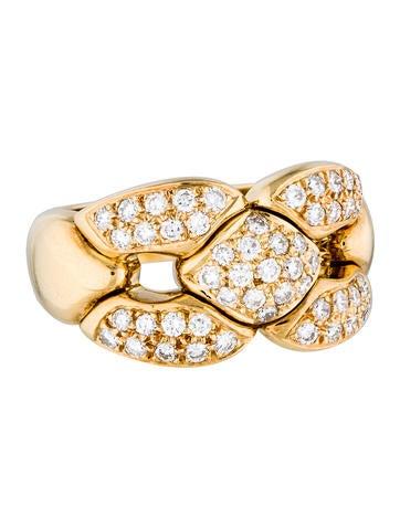 Cartier 18K Diamond Link Cocktail Ring