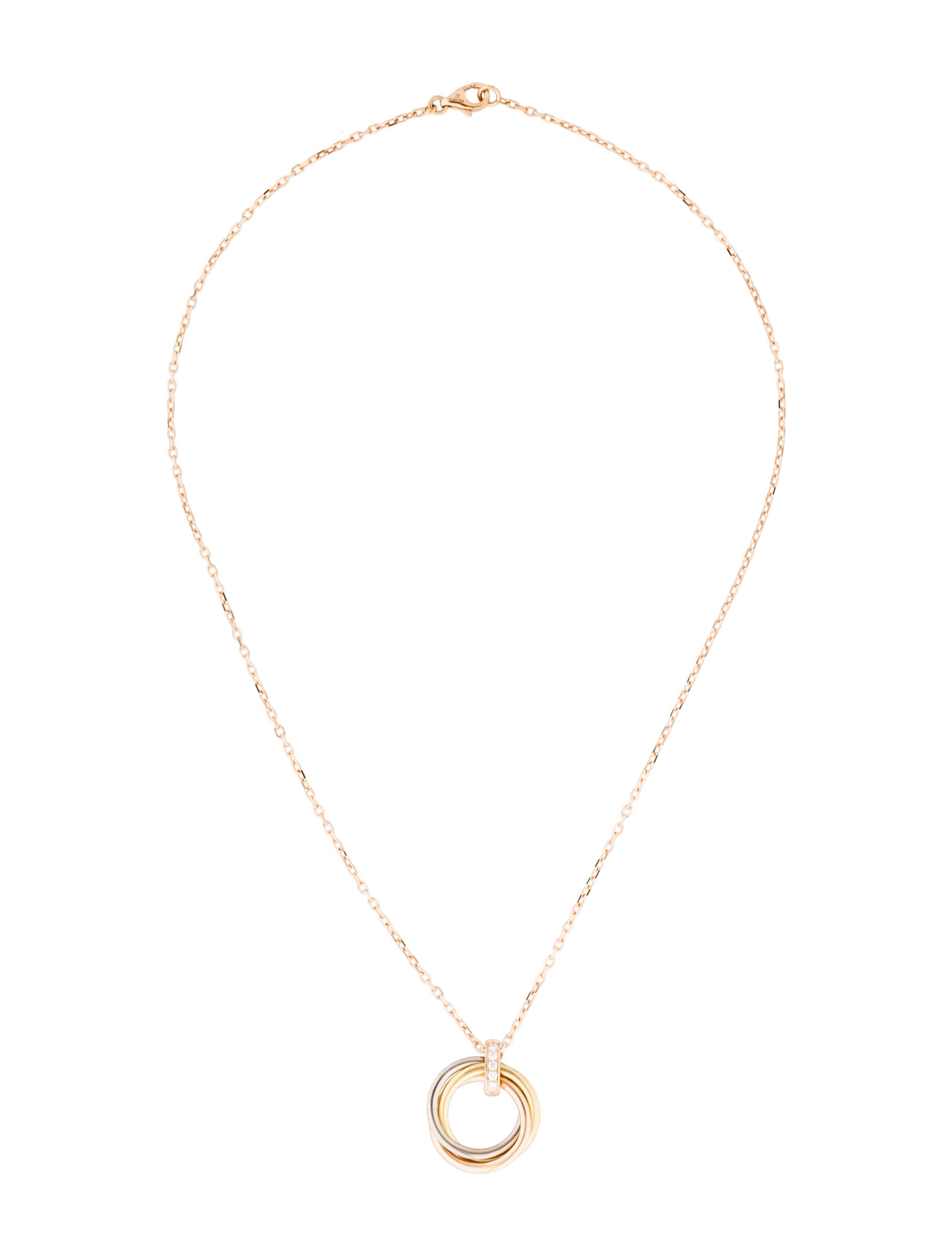 Cartier trinity de cartier diamond pendant necklace necklaces trinity de cartier diamond pendant necklace aloadofball Images