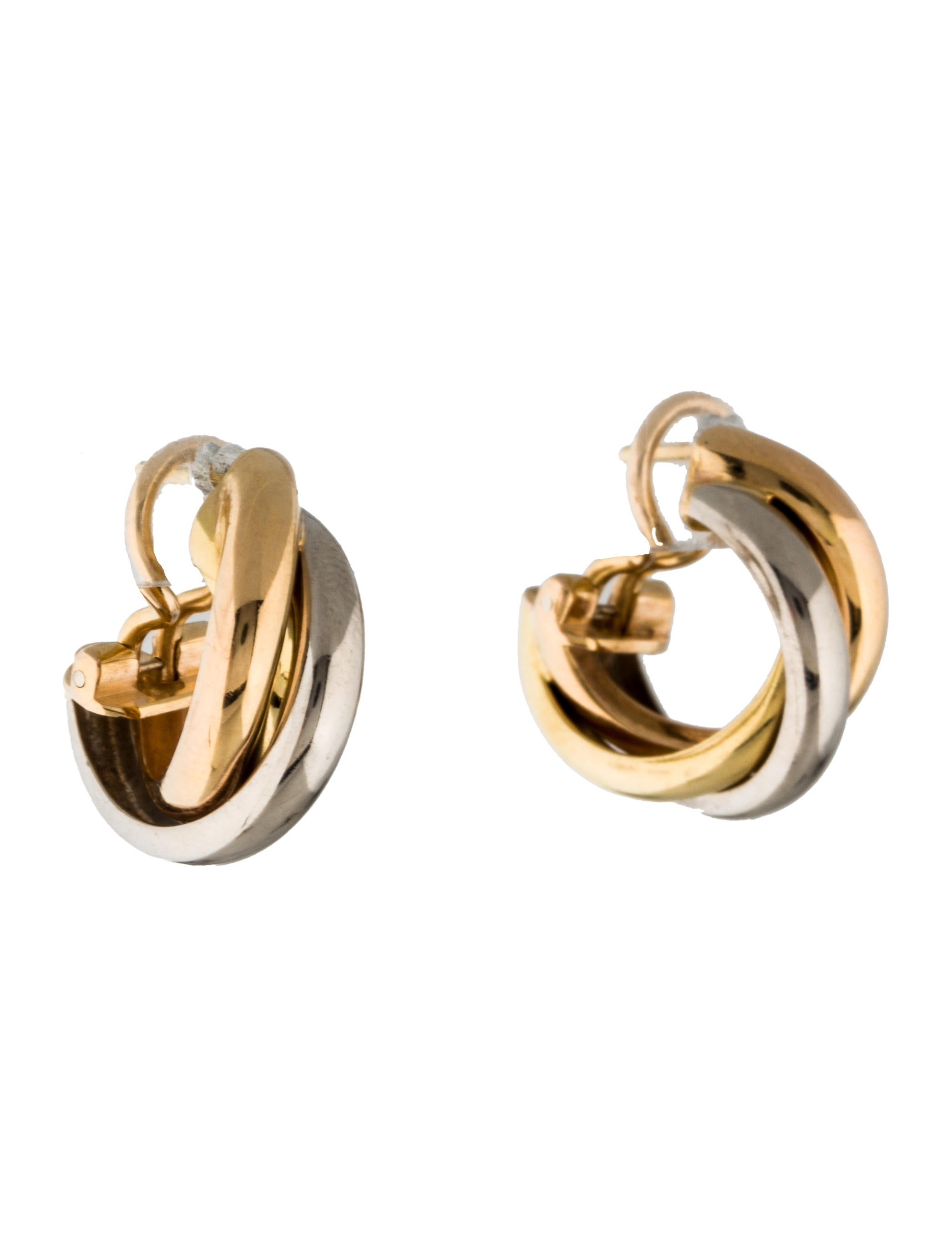 hoop earrings products de earclip the trinity enlarged cartier jewelry