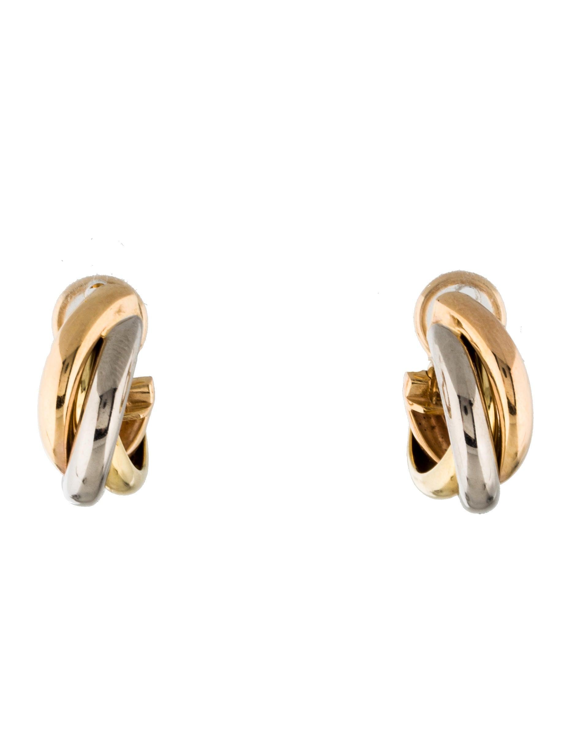 Trinity De Cartier Hoop Earrings
