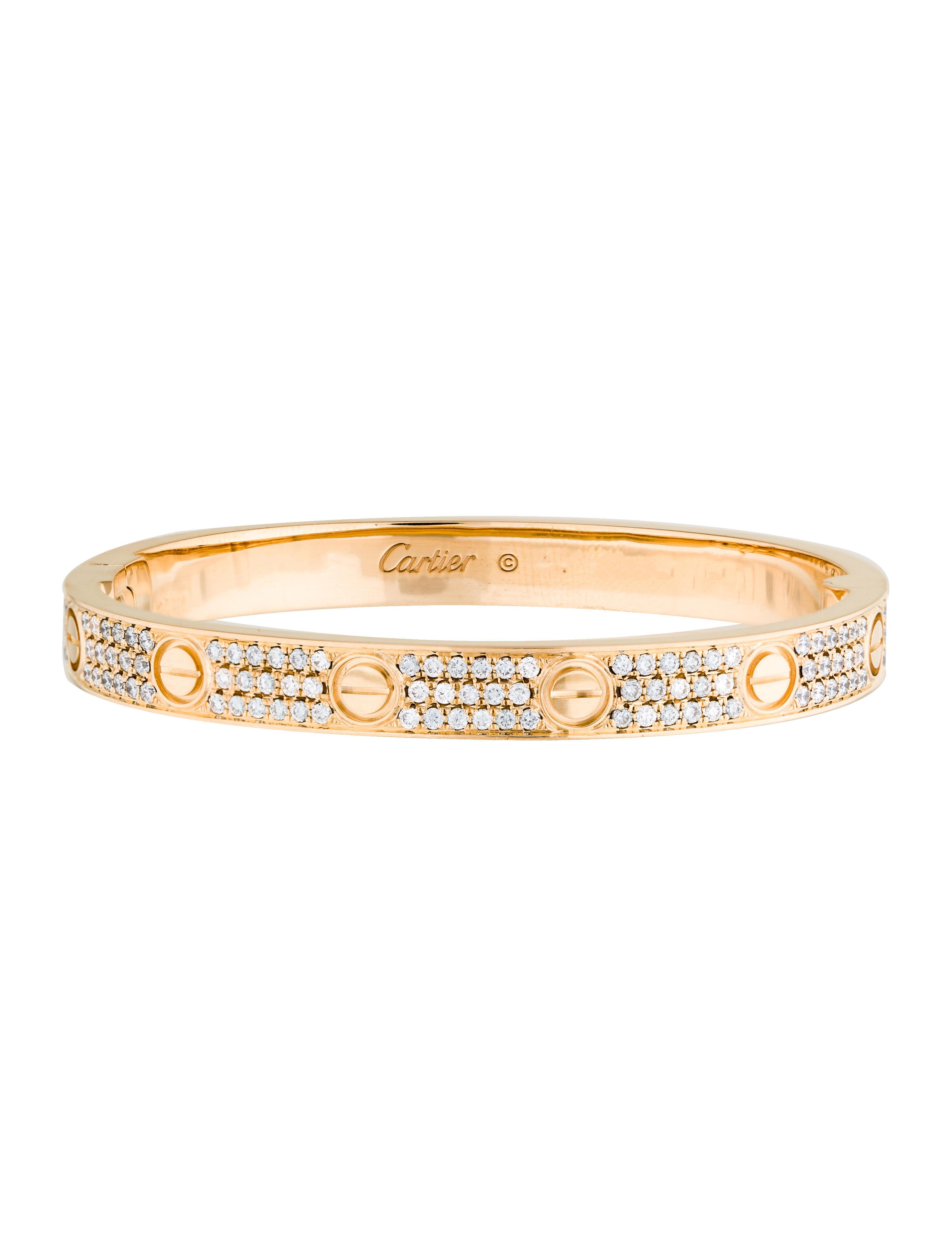 Fashion week Diamond cartier love bracelet for girls