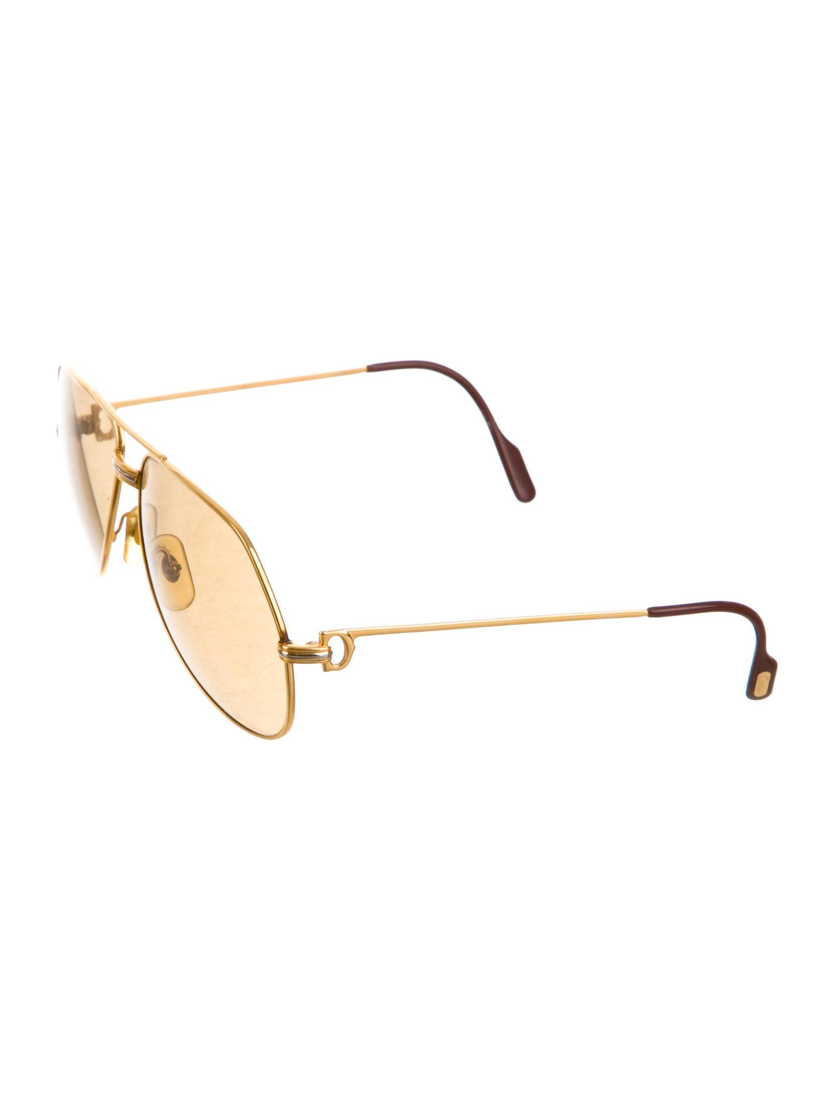 e8b8d84e31d1 Cartier Aviator Sunglasses Gold