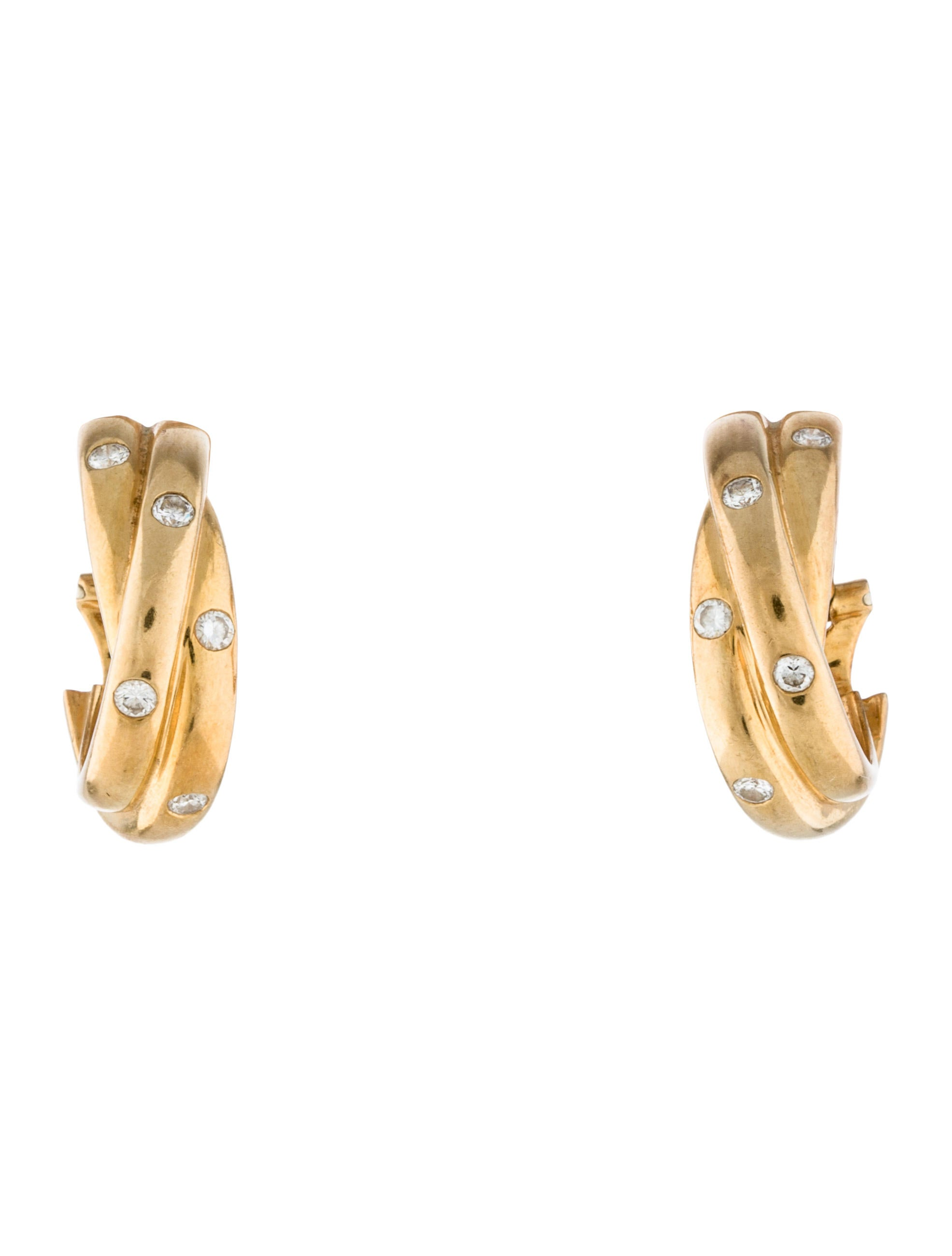 tone cartier gold trinity expertissim model earrings de three
