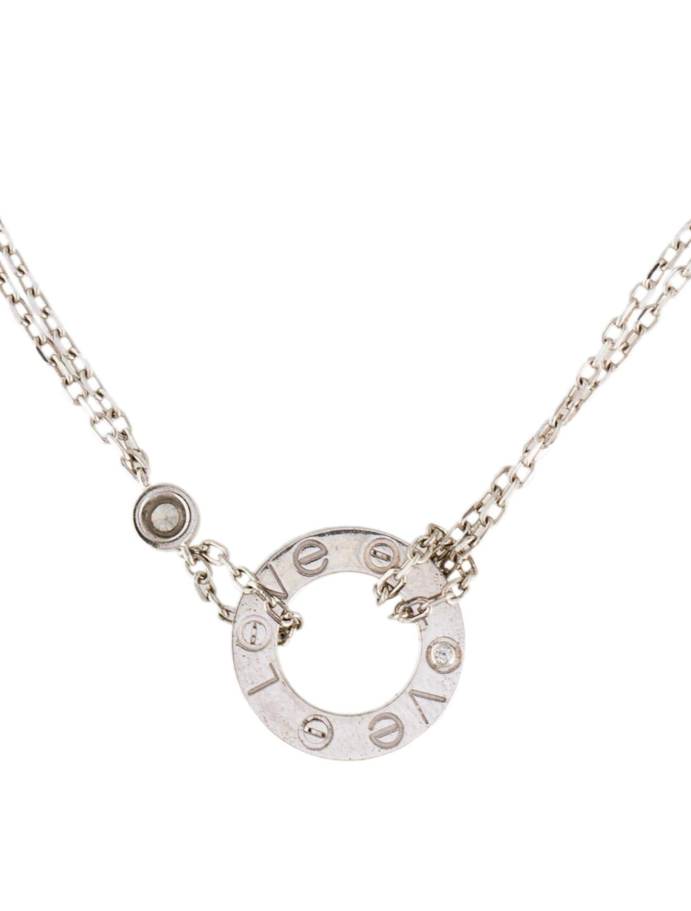 Cartier Diamond LOVE Necklace - Necklaces - CRT31091 | The ...