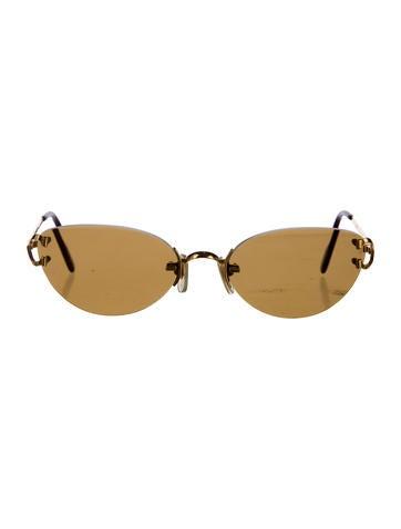 f60f311177ec Cartier Coffee Gold Rimless Sunglasses