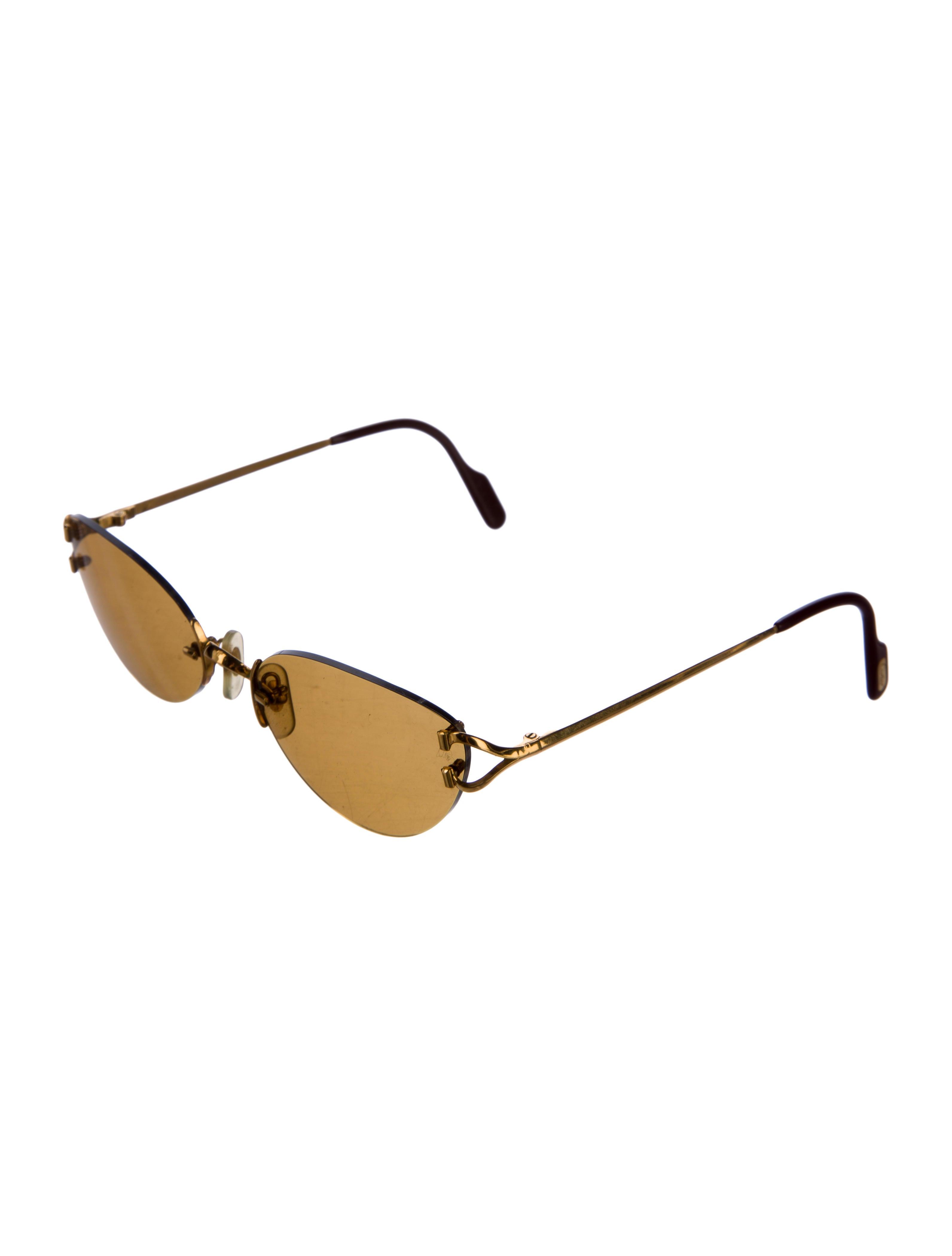 b70f2221d4 Cartier Rimless Narrow Sunglasses - Accessories - CRT31129