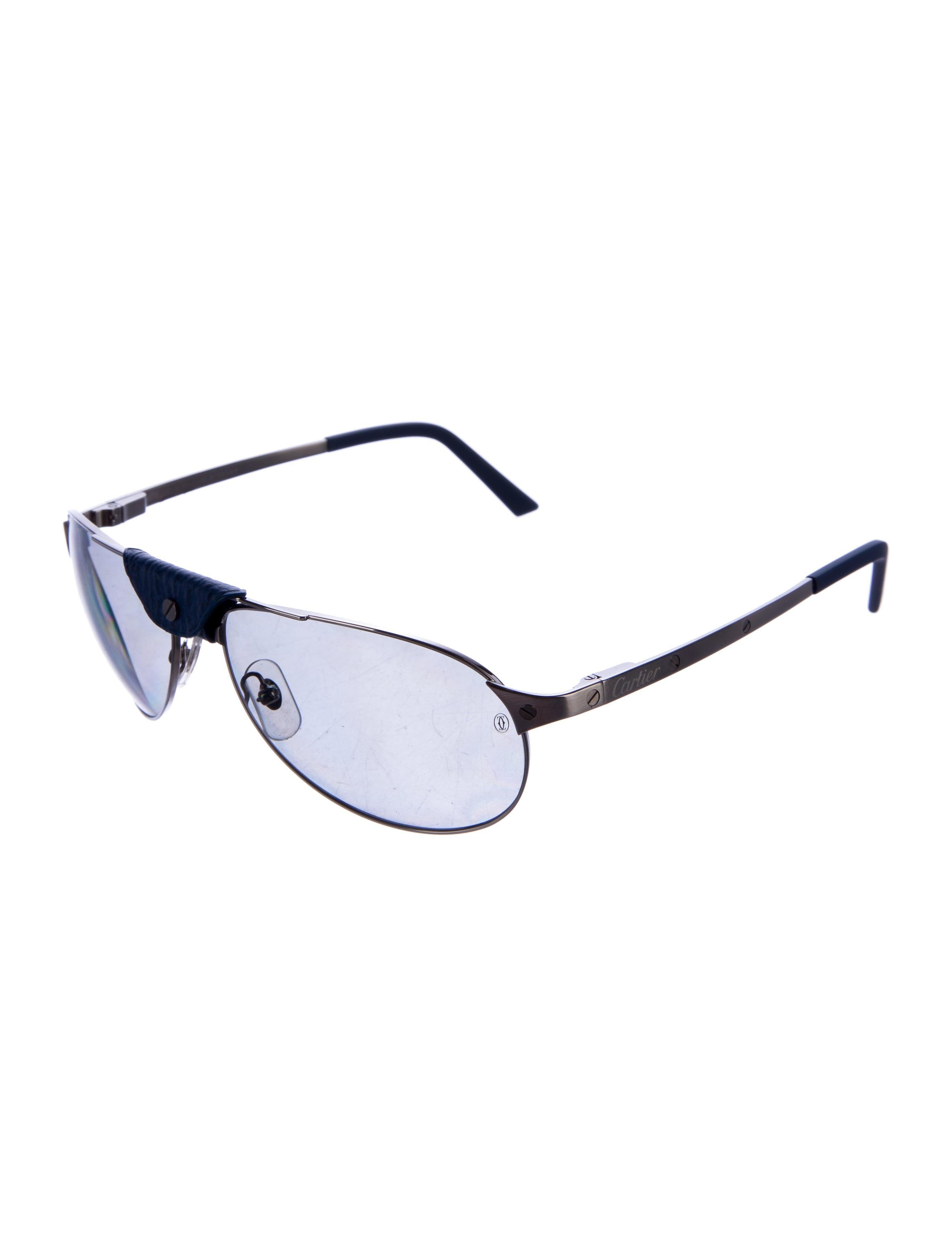 60bba9210a58 Cartier Santos Aviator Sunglasses Dumont