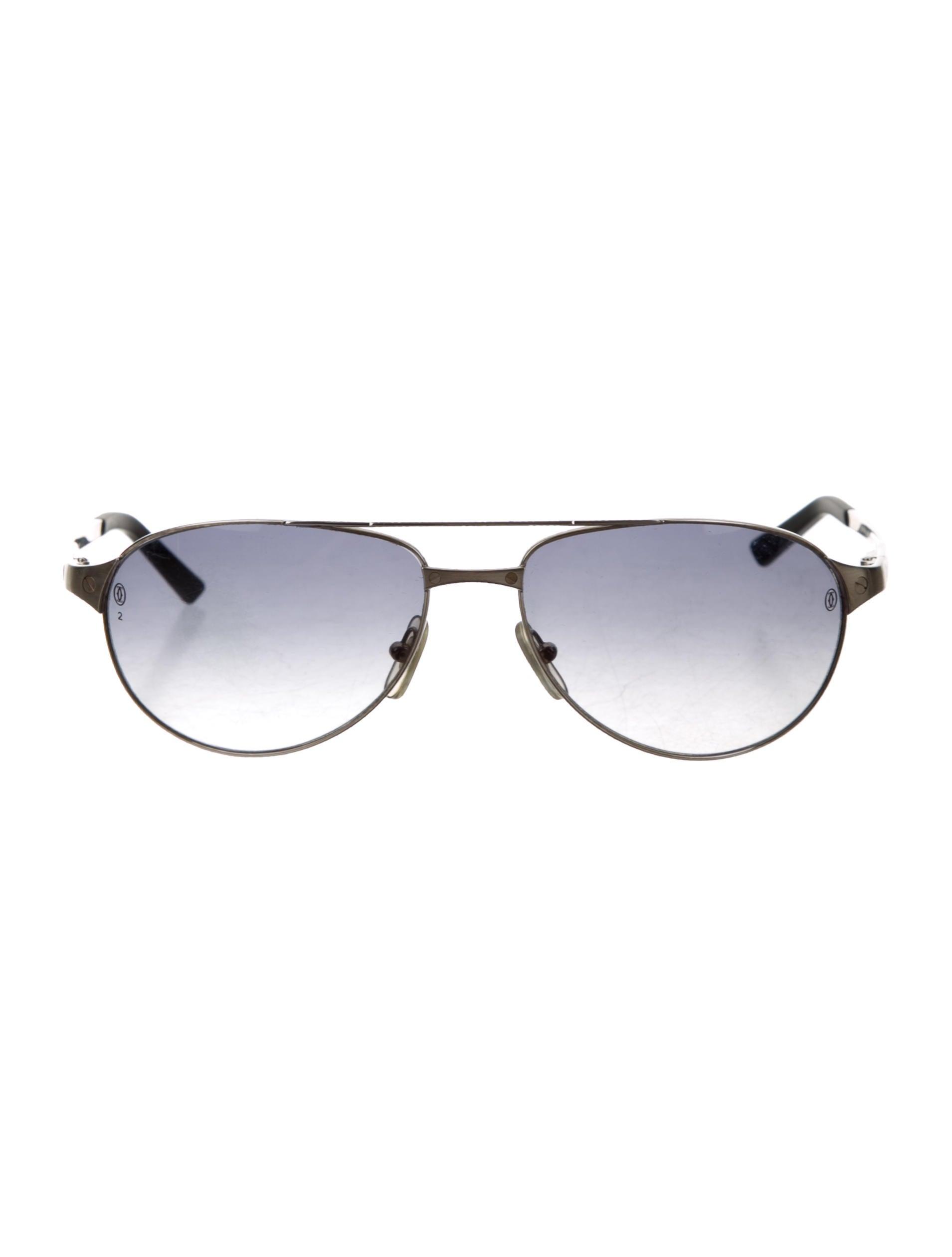 eed406991abfe Cartier Santos Dumont Aviator Sunglasses - Accessories - CRT31906