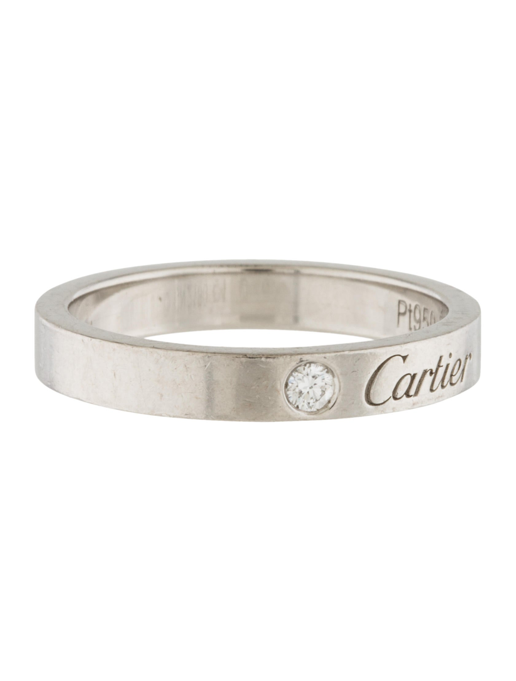 Cartier C de Cartier Wedding Band Rings CRT