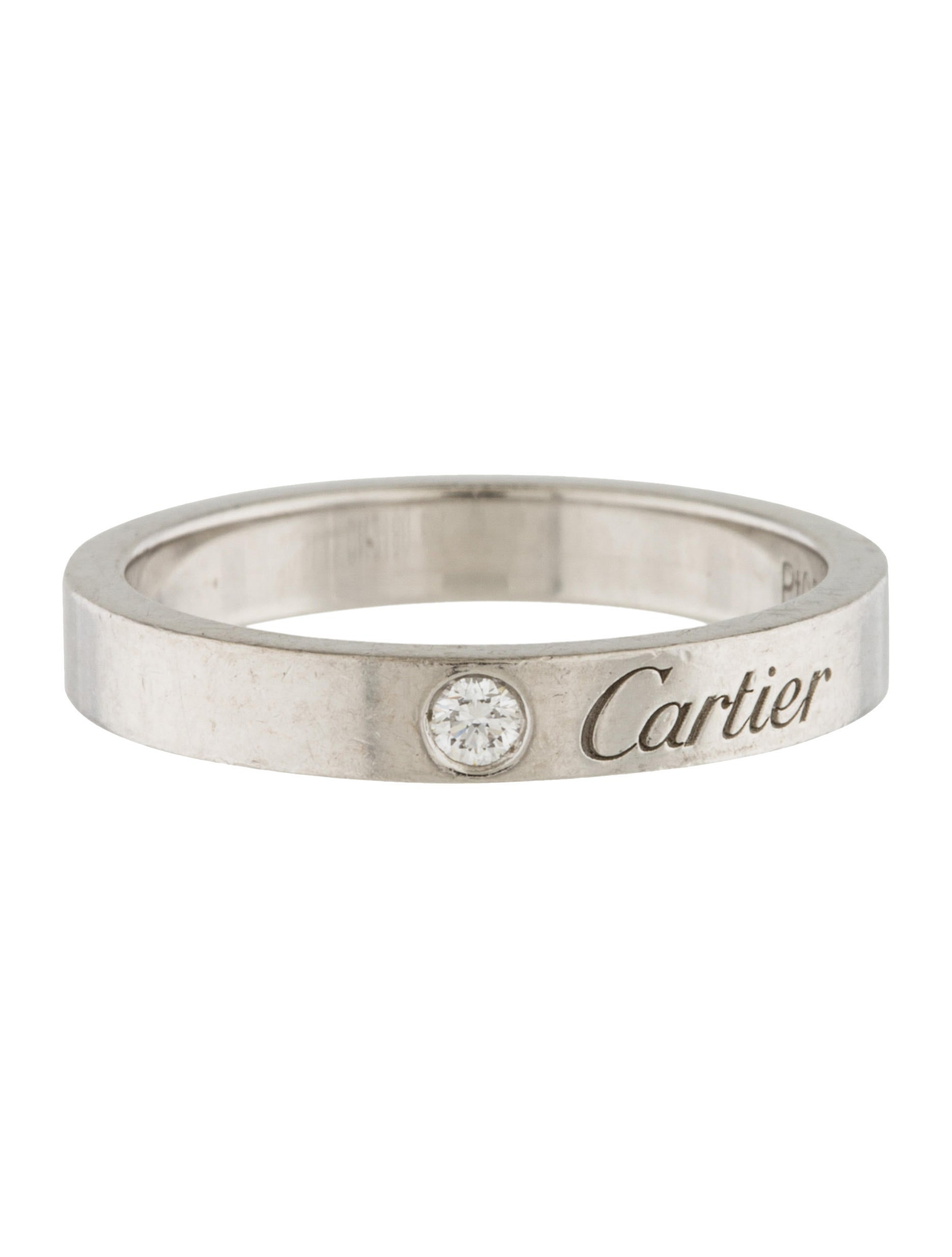 Cartier c de cartier wedding band rings crt32355 the realreal c de cartier wedding band junglespirit Image collections