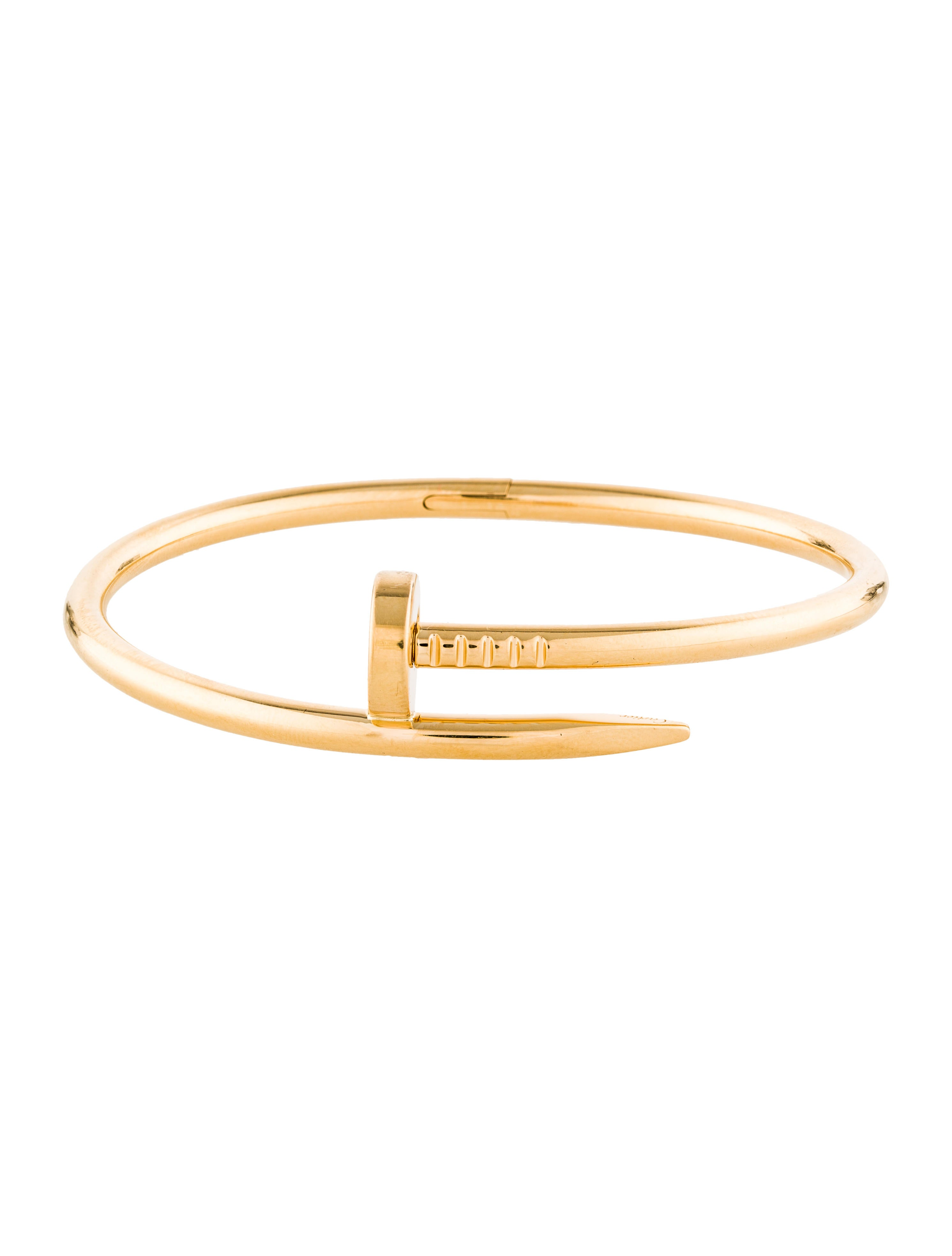 clou cartier gold juste fine un just products diamond bracelet cm