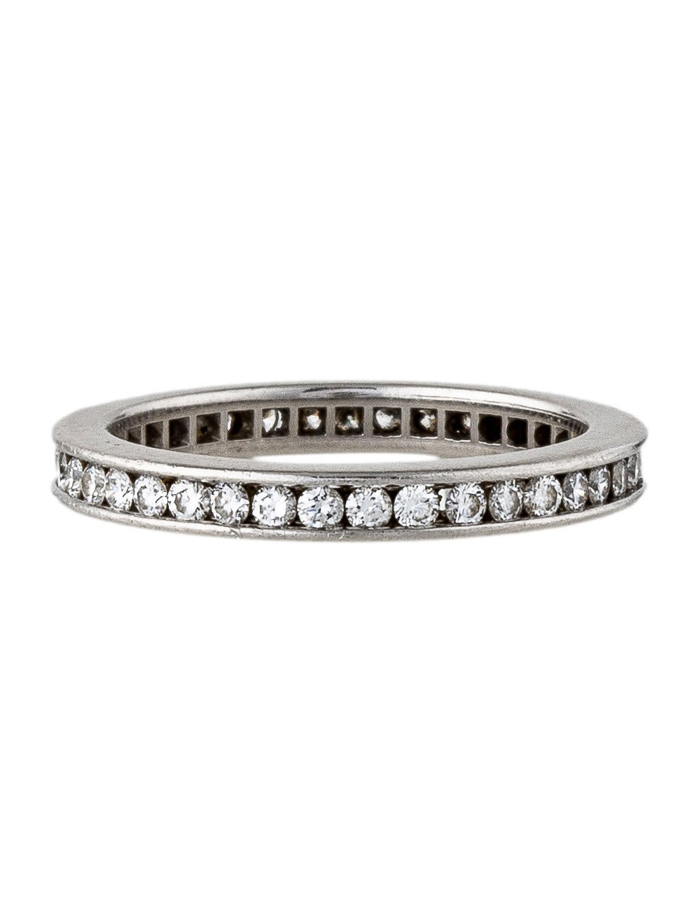 cartier platinum eternity band rings crt32661