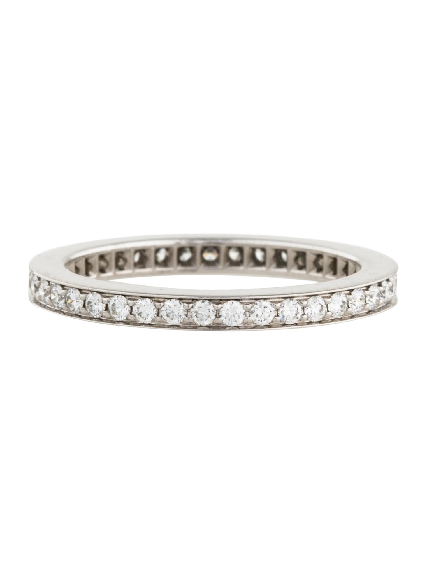cartier platinum eternity band rings crt33044