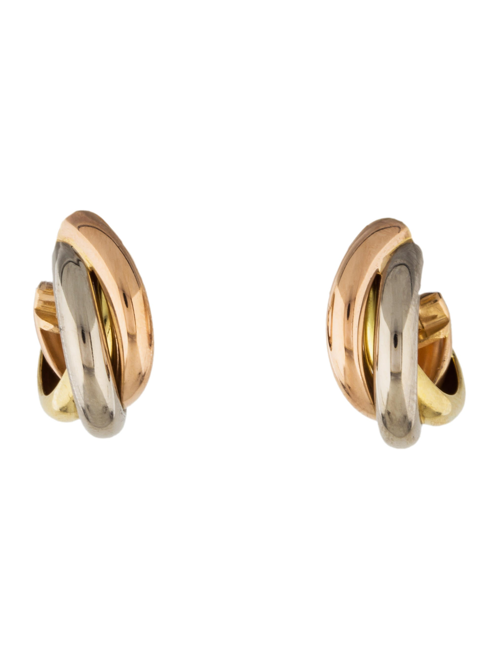 trinity cartier earring de luxe woman ref photo jewellery b gold earrings golden instant pink