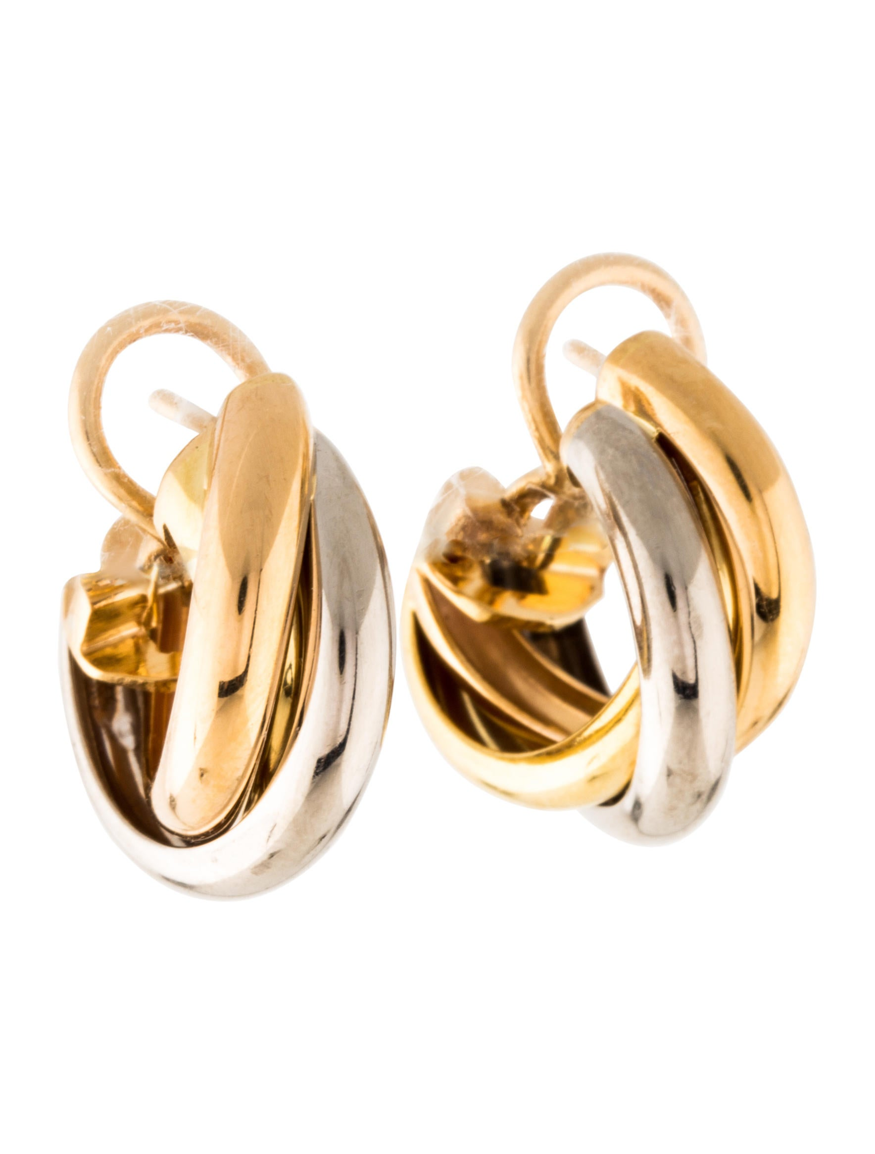 earrings in gallery trinity jewelry de white metallic lyst cartier