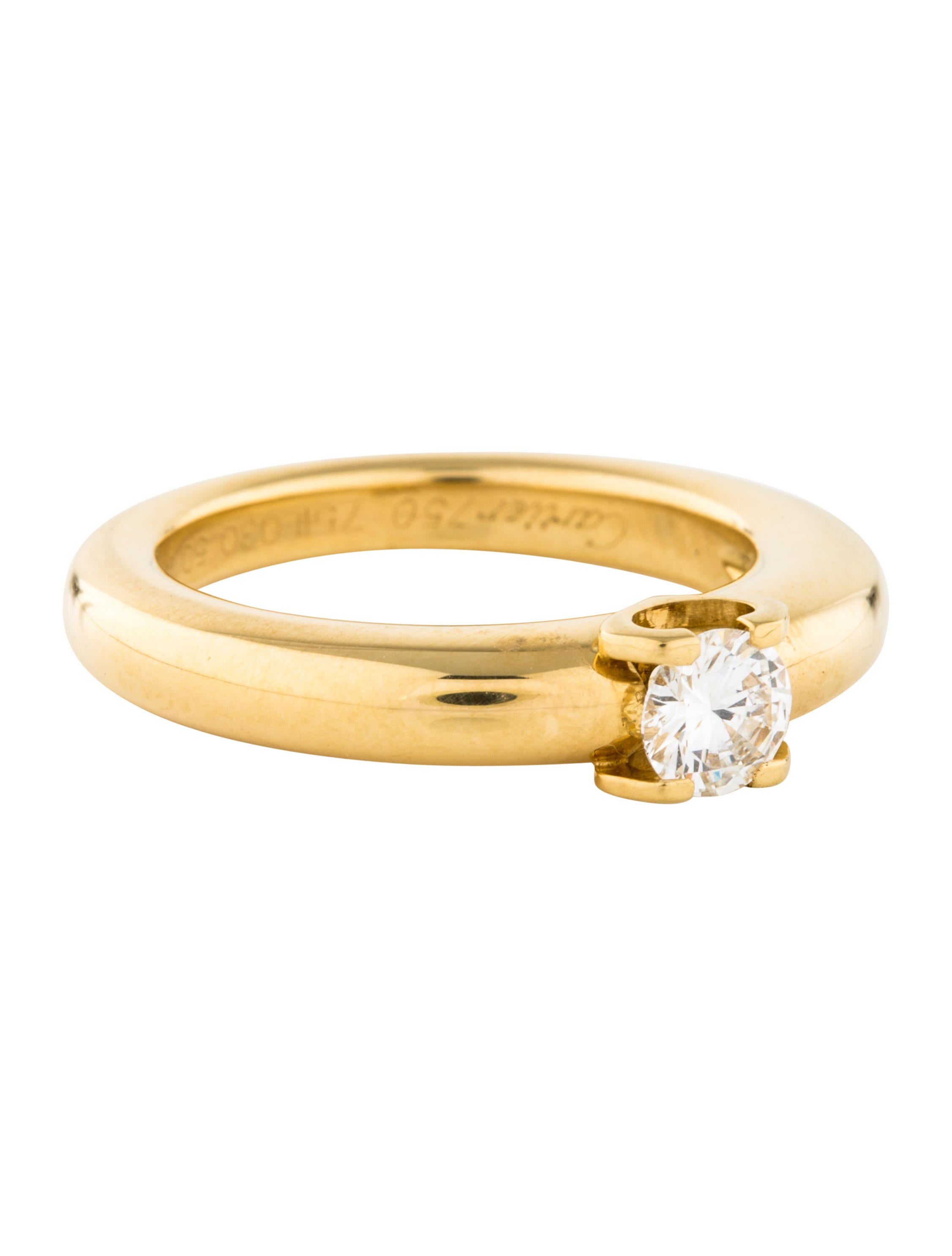 Cartier Yellow Diamond Engagement Ring