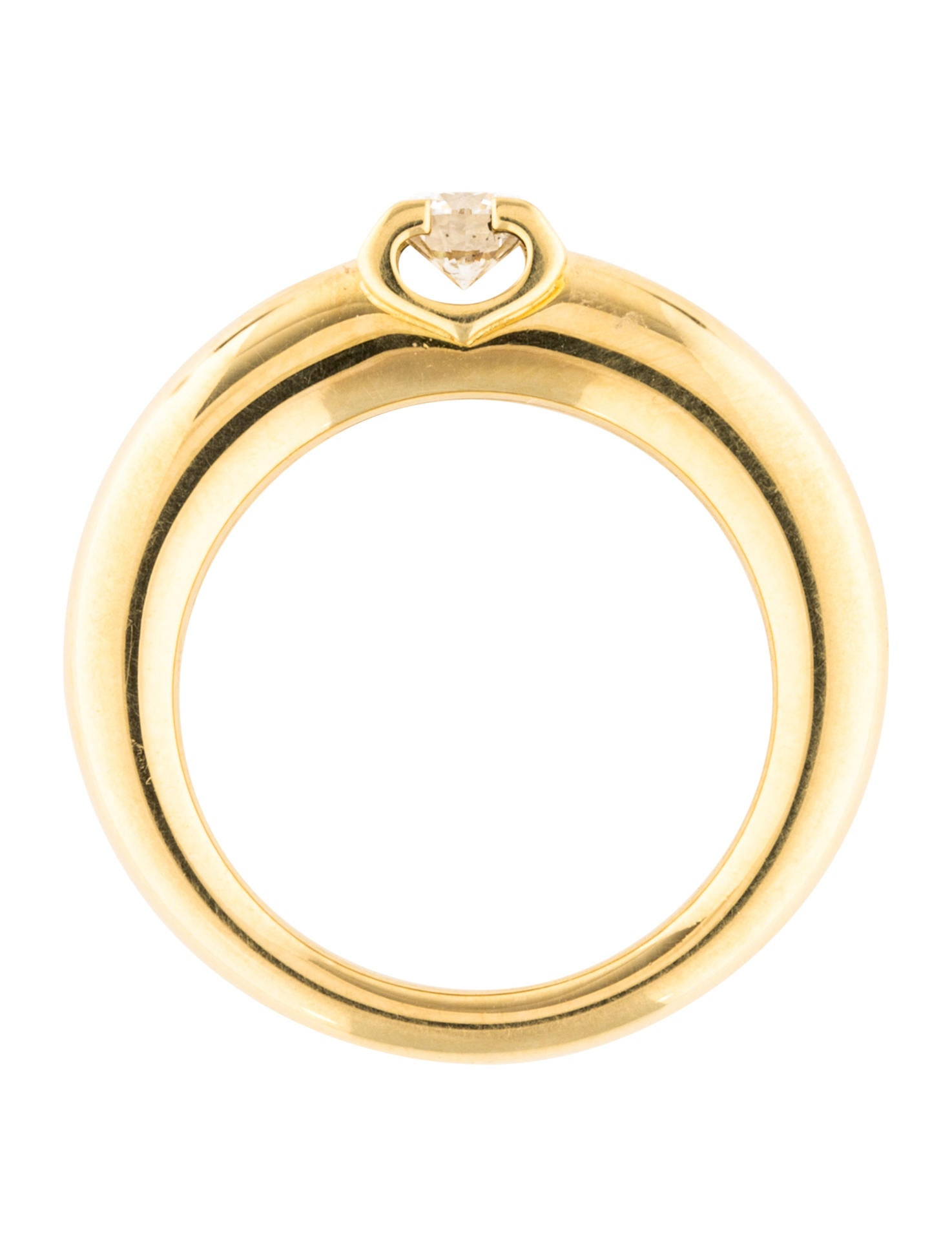 cartier c de cartier diamond engagement ring rings