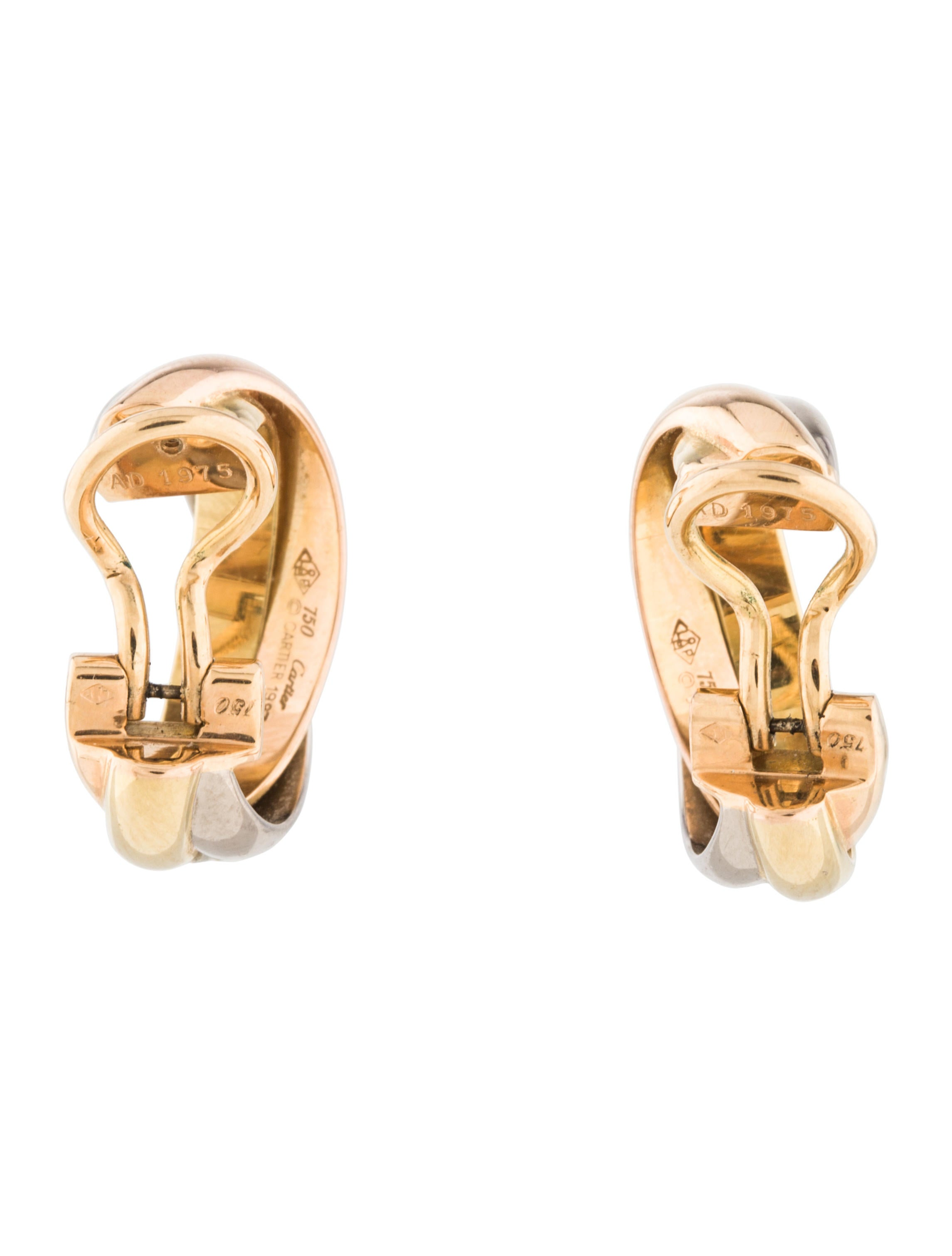 gold products de k the vintage trinity ring earrings contessa cartier