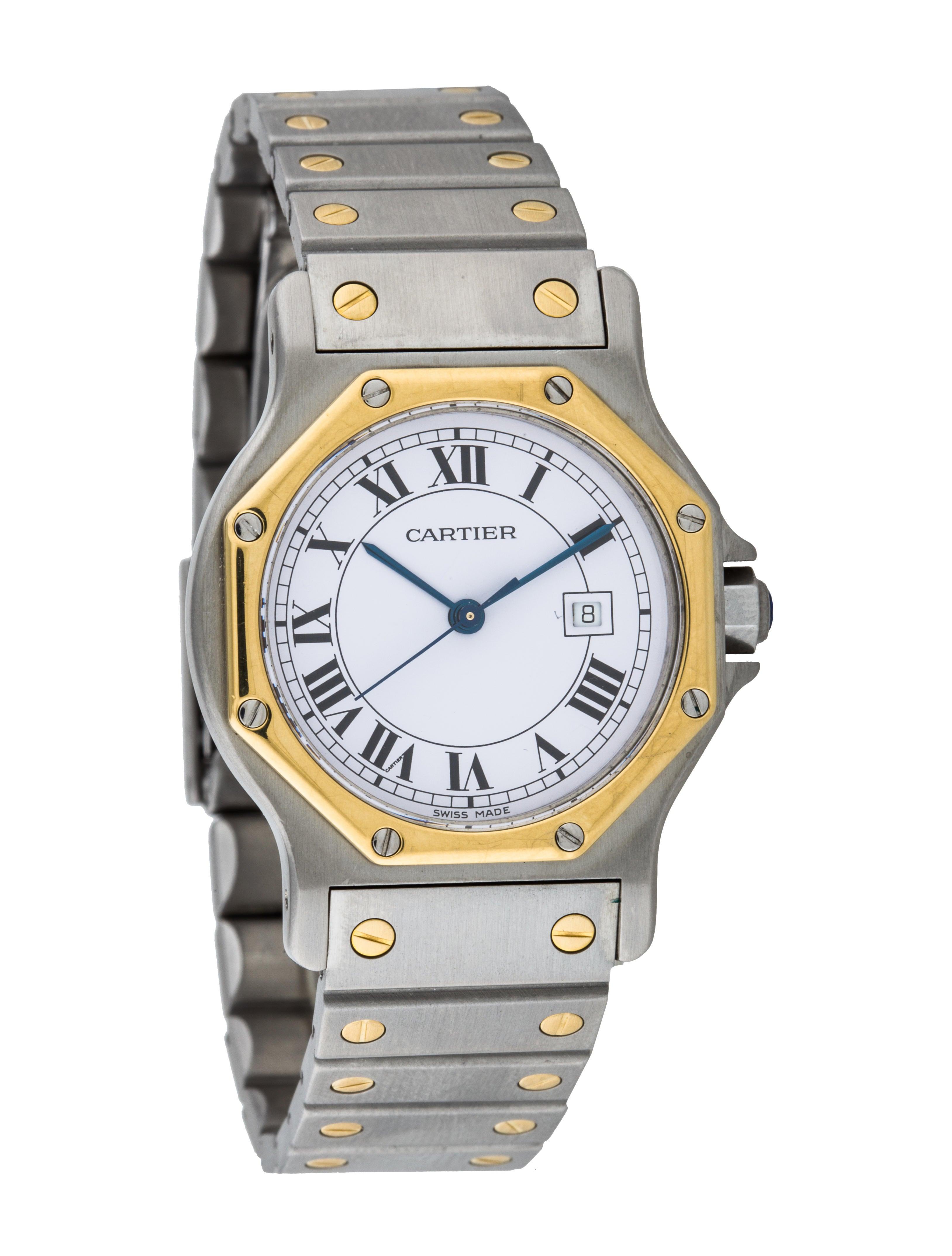 Cartier Santos Octagon Watch - Bracelet