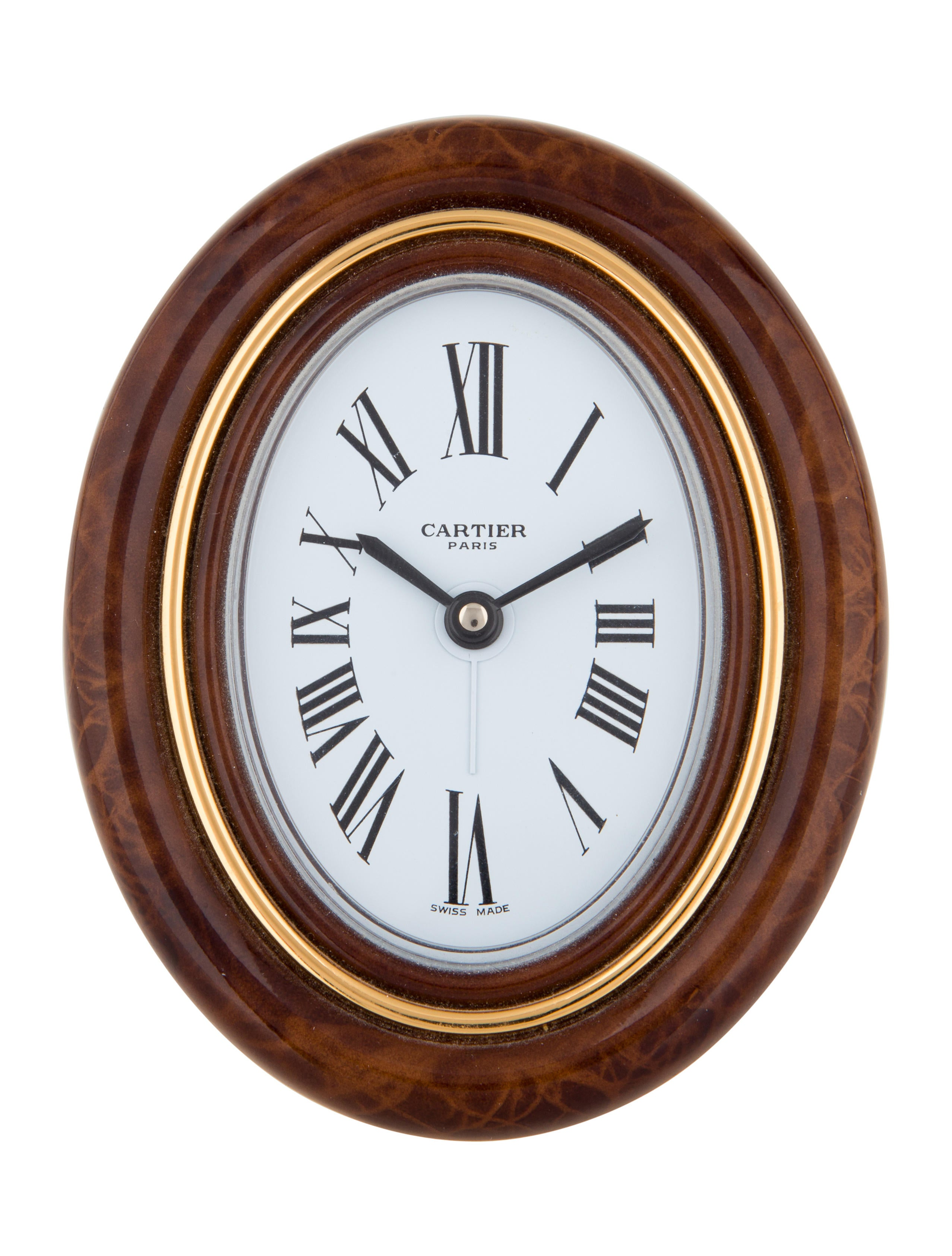 Cartier oval desk clock decor and accessories crt33940 the oval desk clock amipublicfo Images
