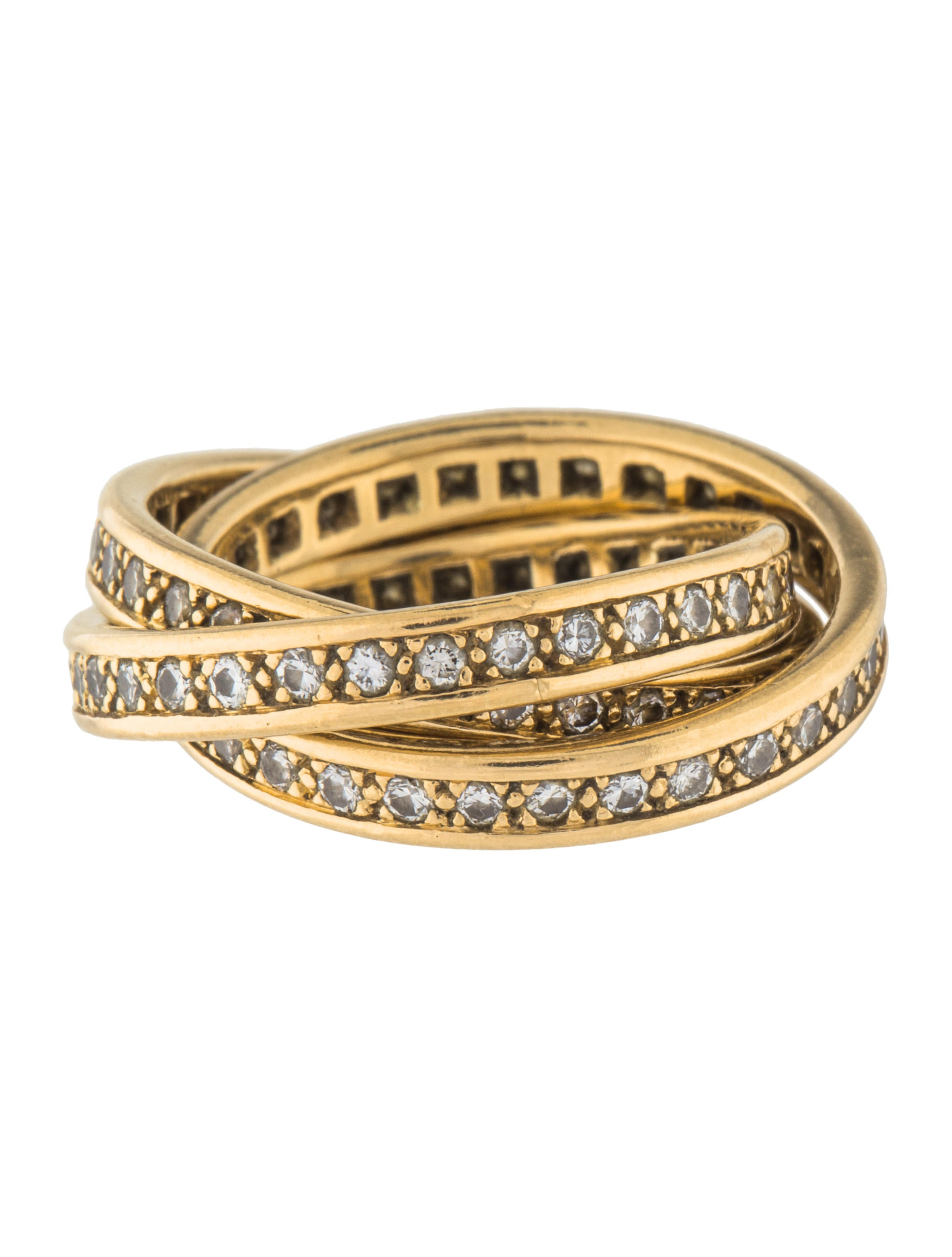 jewellery trinity eternity rings watches product half d les or montreal chemins engagement