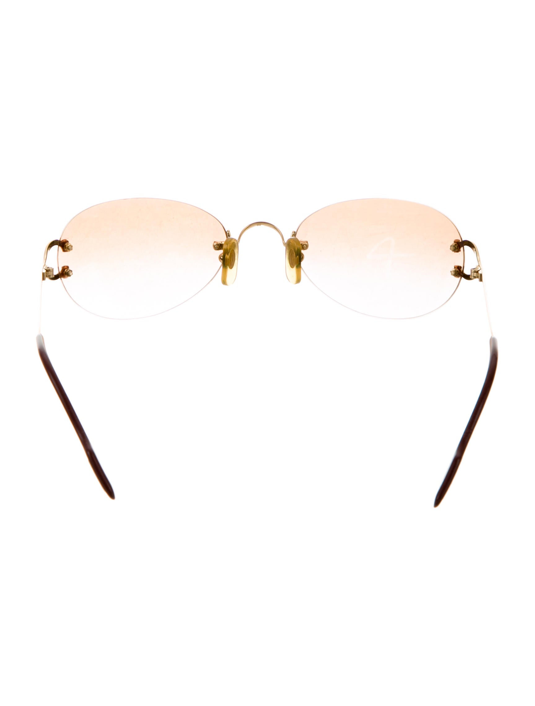 0cf3cd4a5ba Cartier Rimless Sunglasses Coffee Gold « One More Soul