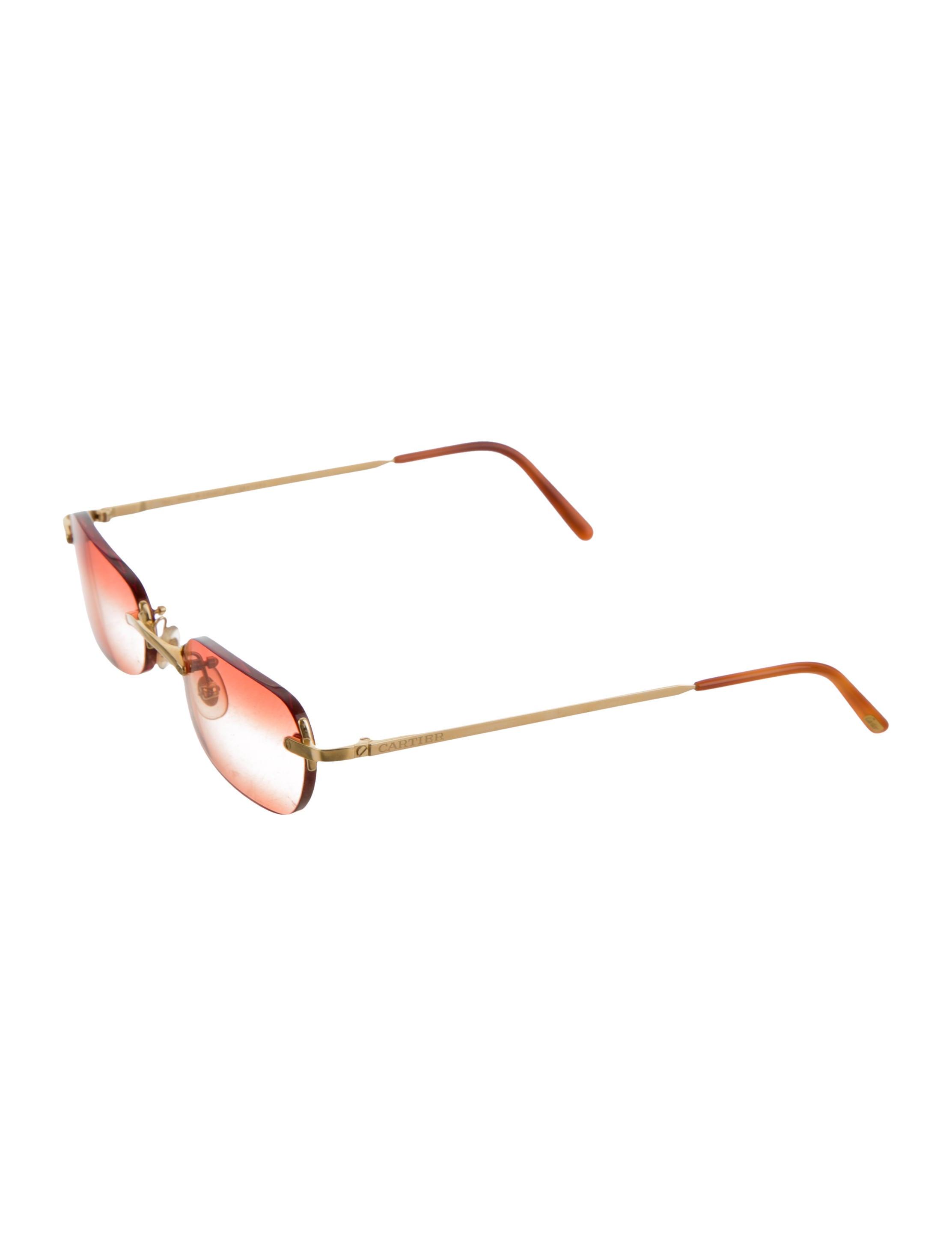 Cartier Rimless Logo Sunglasses - Accessories