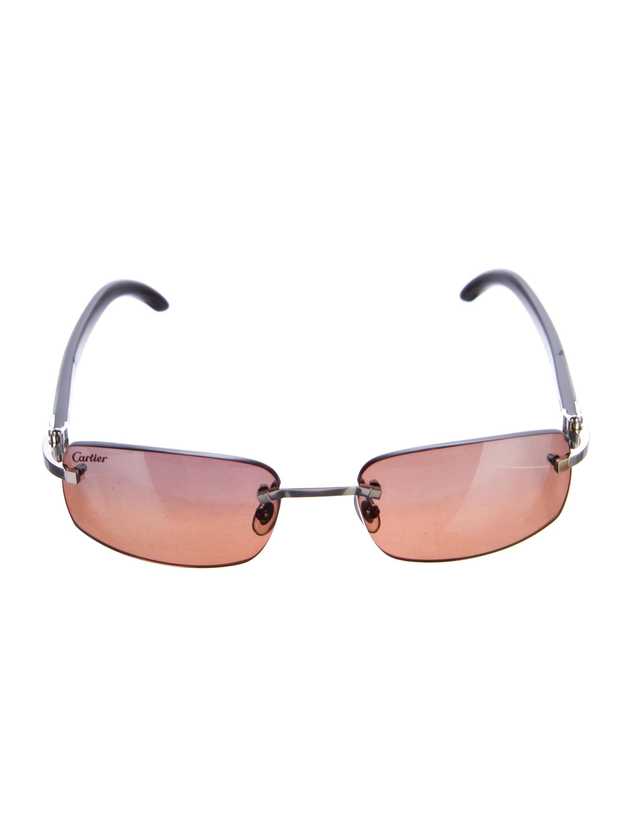 b8d33f21191 Cartier C Decor Sperone White Buffalo Horn Sunglasses - Accessories ...
