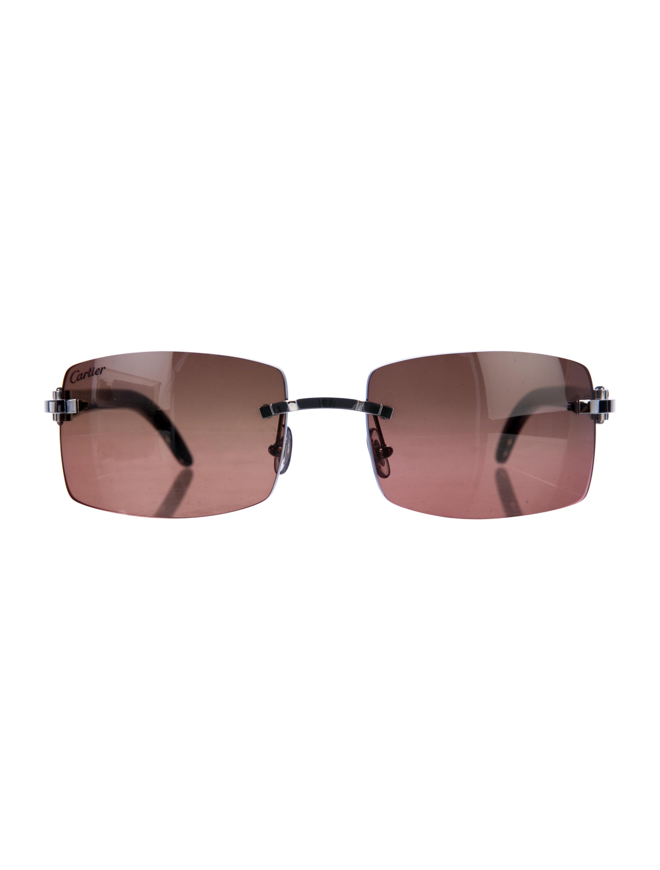a755e0028a450 Cartier C Decor Sardinia Buffalo Horn Sunglasses - Accessories ...