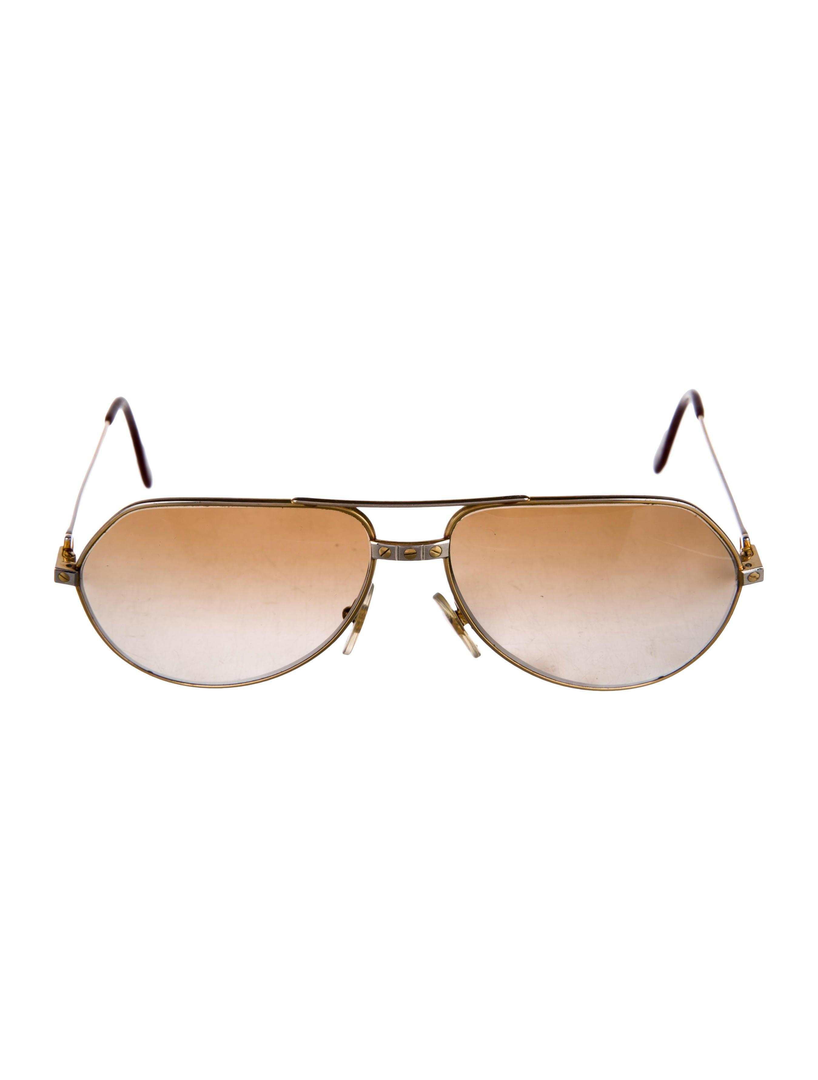 40ed31e763 Cartier Vendome Santos Aviator Sunglasses - Accessories - CRT35930 ...