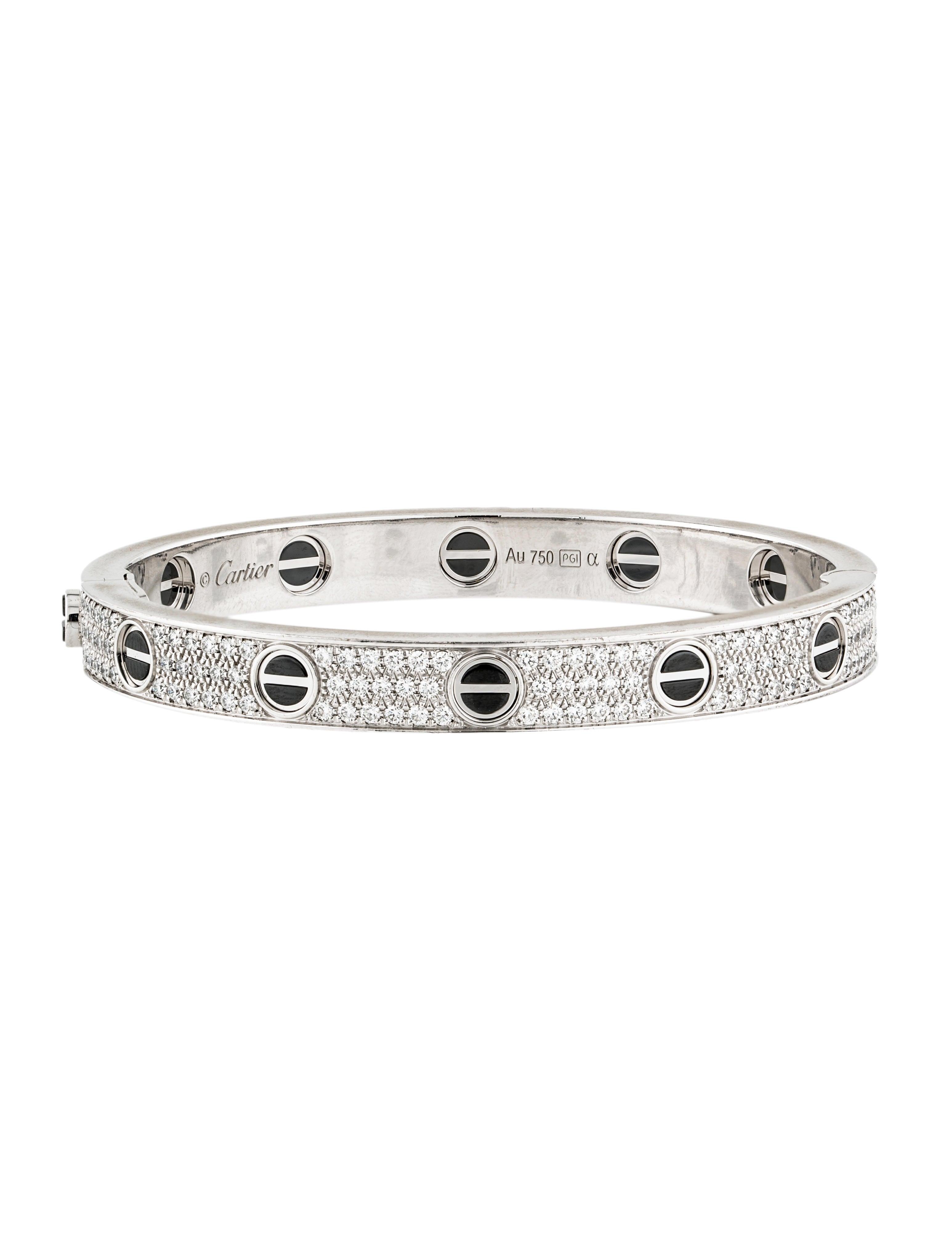 Cartier Love Diamond Pave Ceramic Bracelet Bracelets Crt49803