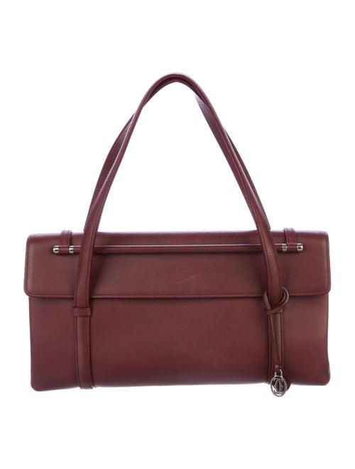 Cartier Leather Shoulder Bag silver