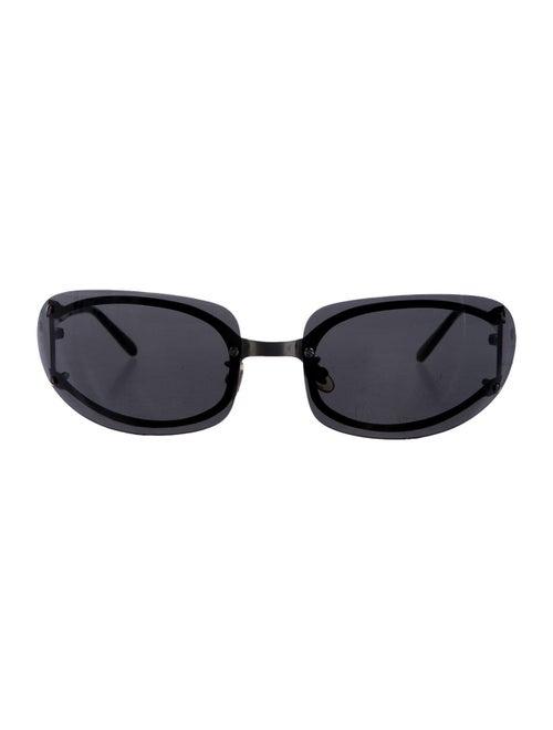 Cartier Rimless Square Sunglasses Silver