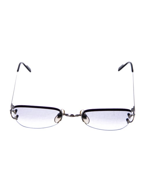 Cartier Rimless Gradient Sunglasses silver
