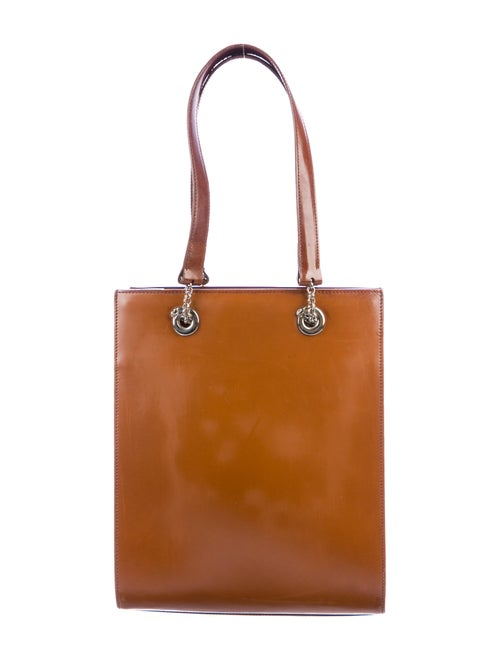 Cartier Panthère Leather Tote silver