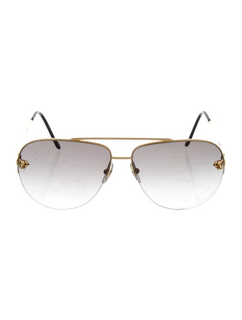 Cartier Metal Aviator Sunglasses Gold
