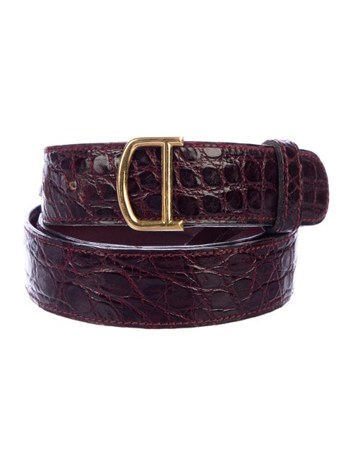 Cartier Embossed Leather Belt Gold