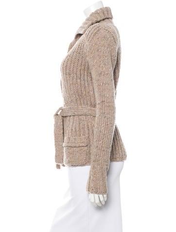 Rib Knit Belted Cardigan