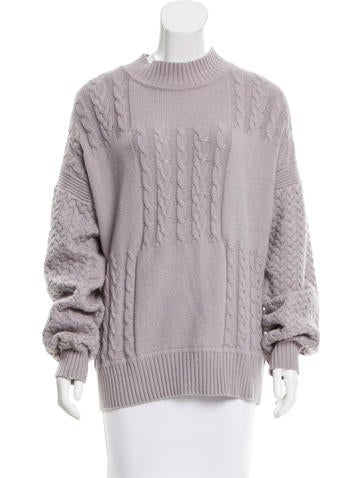 Creatures of the Wind Cable Knit Oversize Sweater None