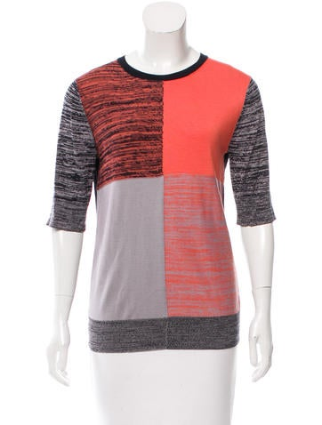 Creatures of the Wind Patterned Silk & Cashmere-Blend Top None