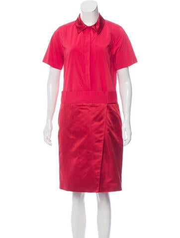 Creatures of the Wind Silk-Trimmed Asymmetrical Shirtdress None