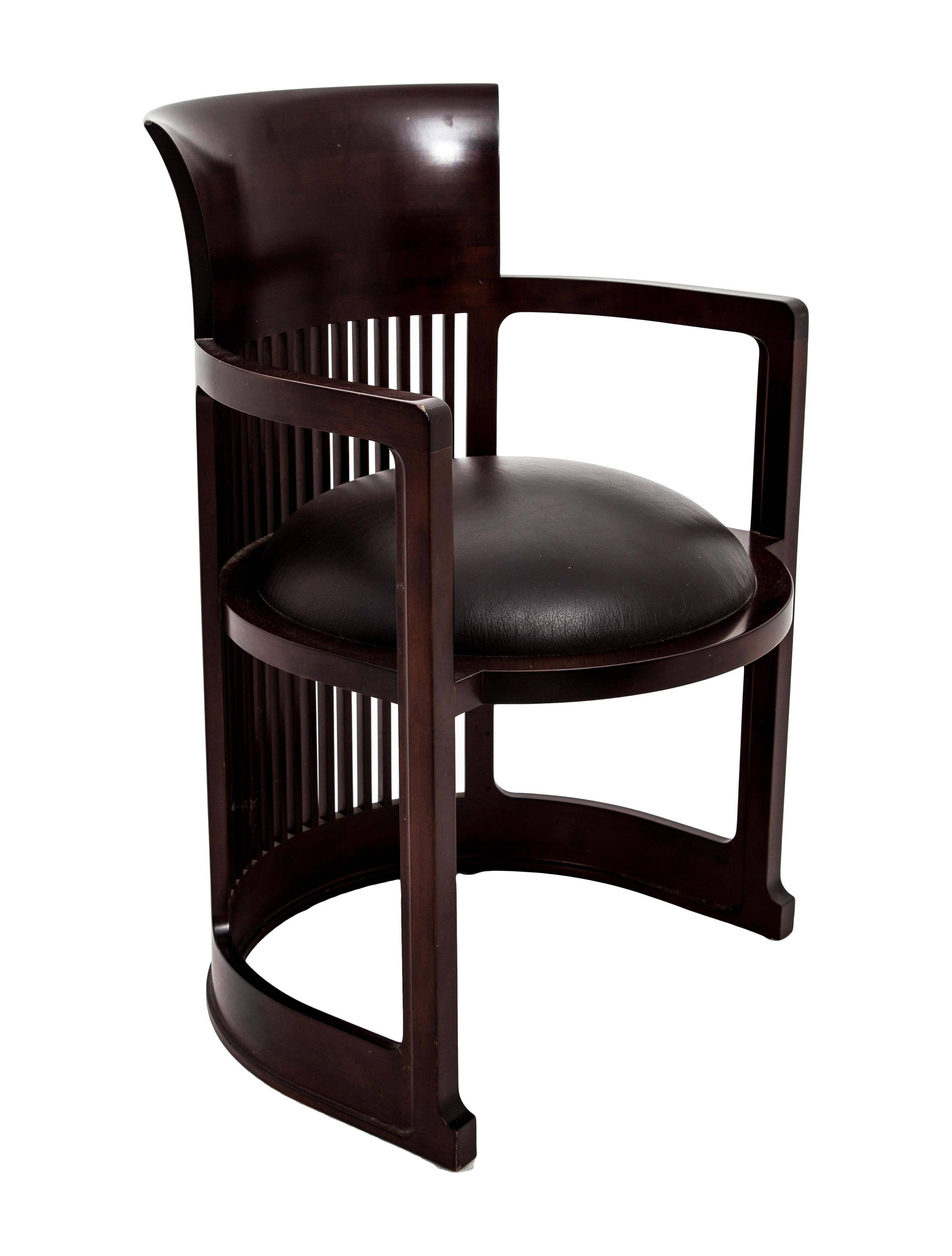 Cassina frank lloyd wright barrel chair furniture for Sedia barrel wright