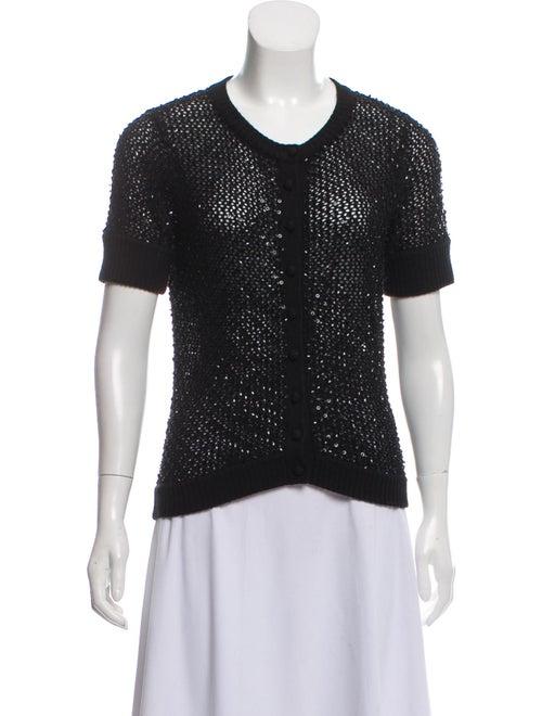 Cassin Silk Knit Cardigan Black - image 1