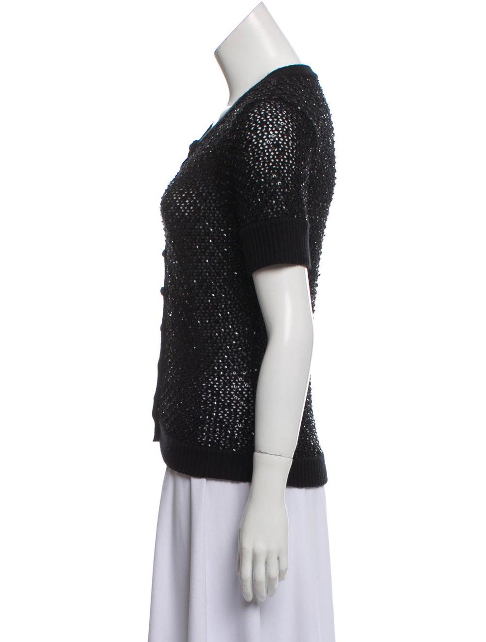 Cassin Silk Knit Cardigan Black - image 2